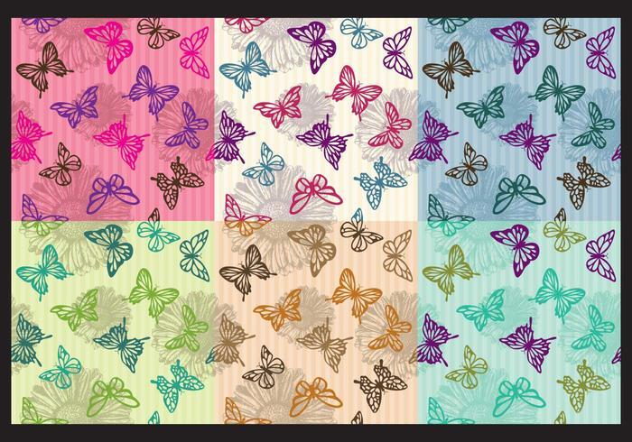 Vintage fjäril mönster