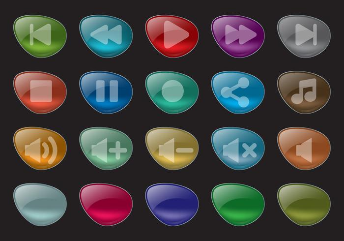 Glow Vector Buttons