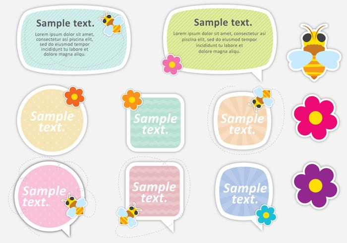 Cute Bee Text Boxes