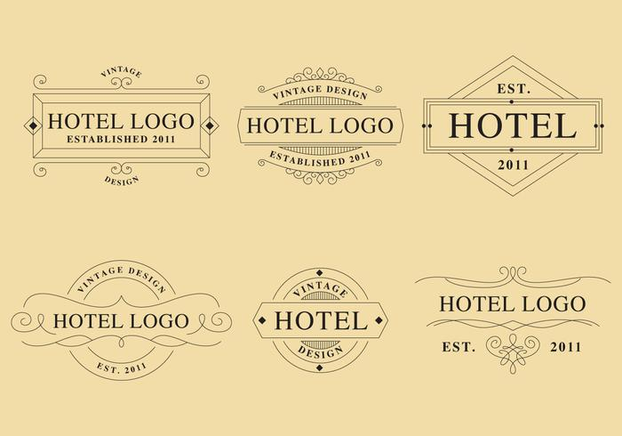 Logotipos lineales hotel