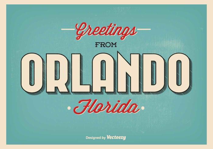 Ilustración de felicitación de Orlando Florida