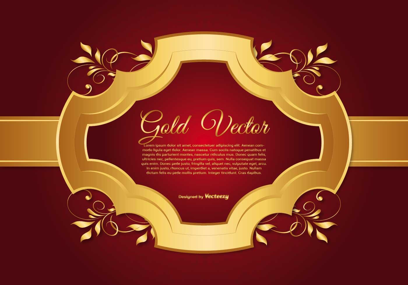 Elegant Gold And Red Background Illustration Download