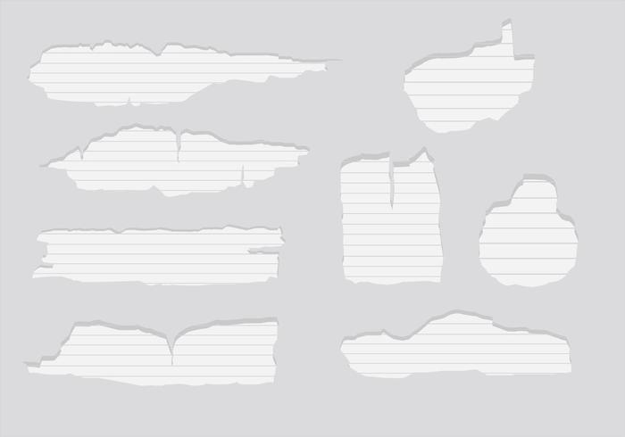 Zerrissene Papiervektoren