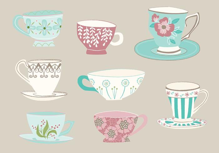 Hand Drawn Tea Cup Vectors
