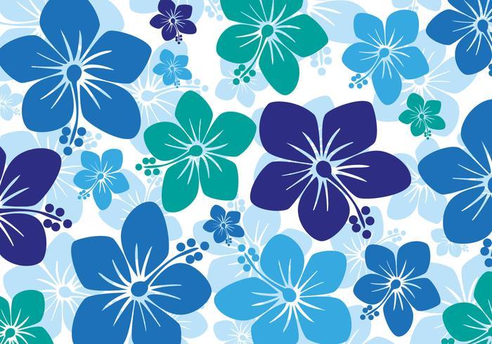 Free Hawaiian Hibiscus Hintergrund Vektor