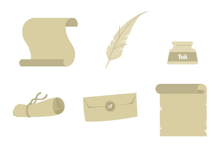 Scrolled Paper Icon Set