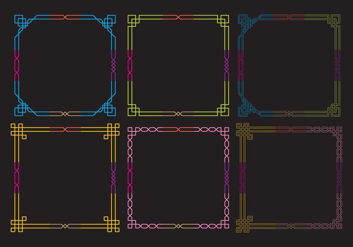 Neon Frames Vectores