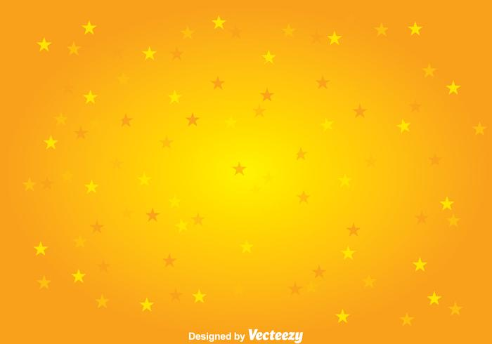 Yellow Stars Background Vector