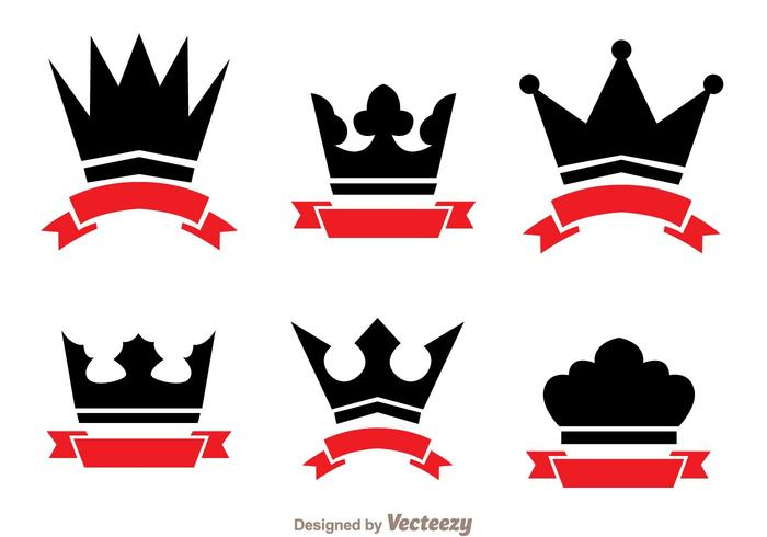 Crown And Ribbon Logo Vectors