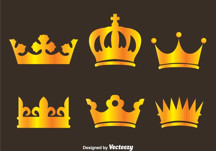 Gold Crown Logo Vektoren