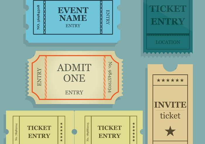 Concert Ticket Stub Vector Set