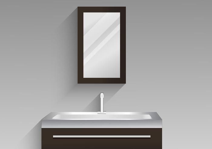 Bathroom Cabinet Vector Design Illustratie