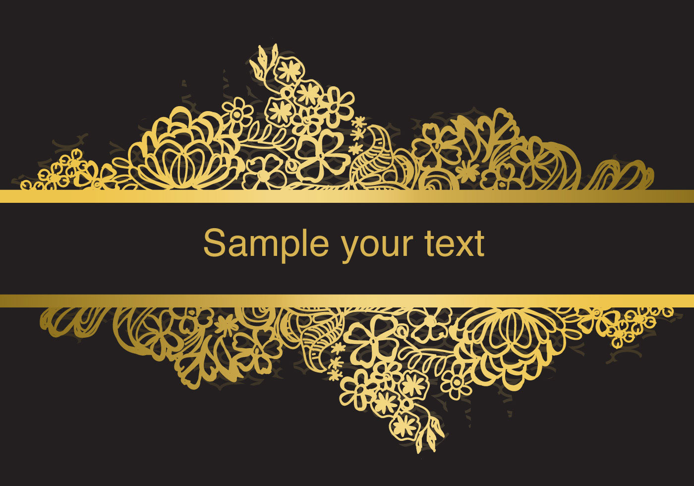 Gold Frame Lace Vector Download Free Vector Art Stock