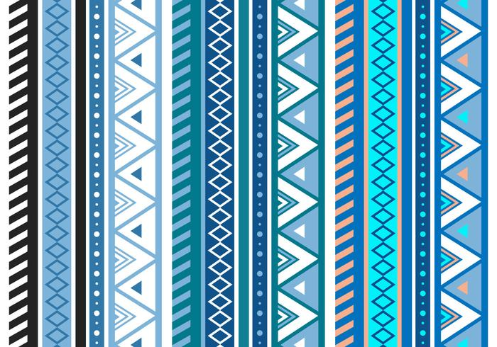 ... pattern blue abstract geometric seamless vector pattern in aztec style