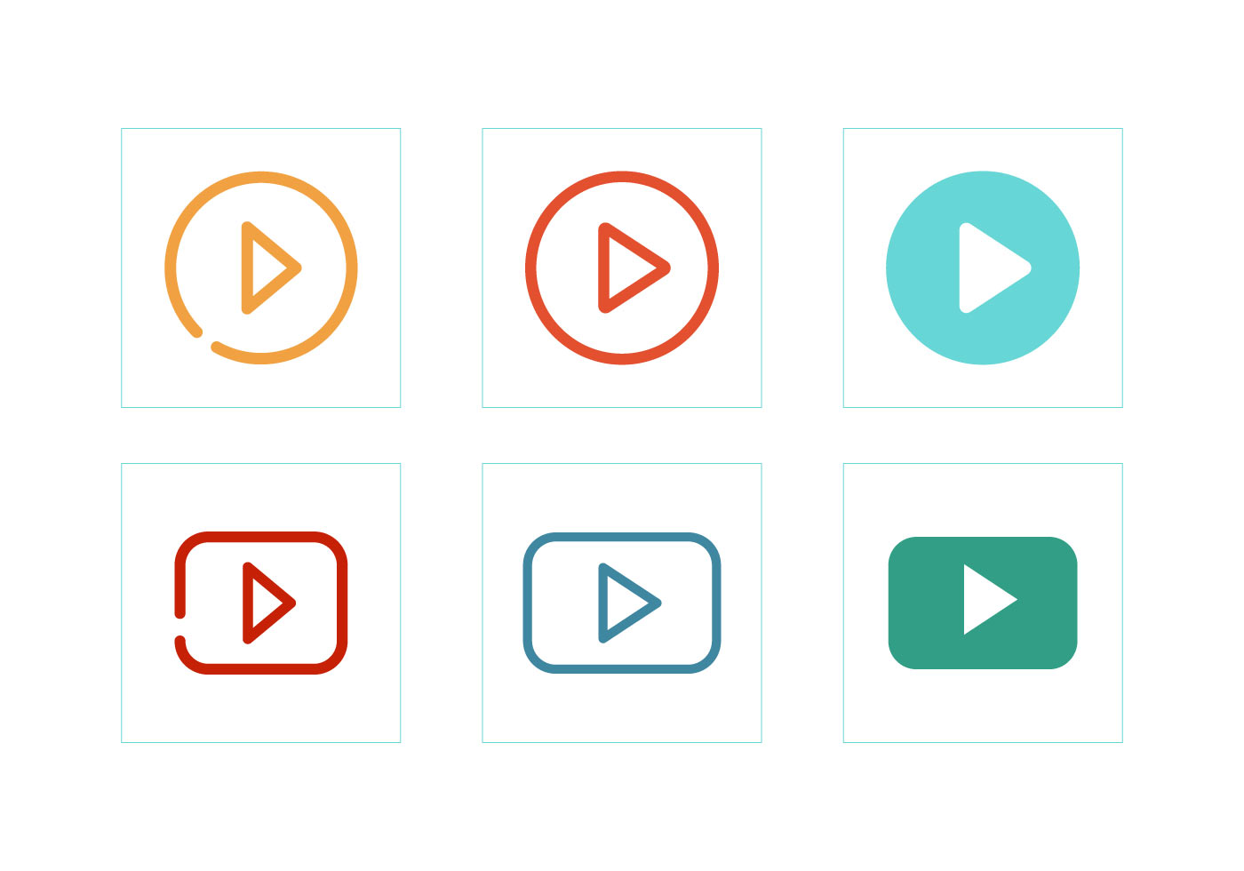 free video play button vector