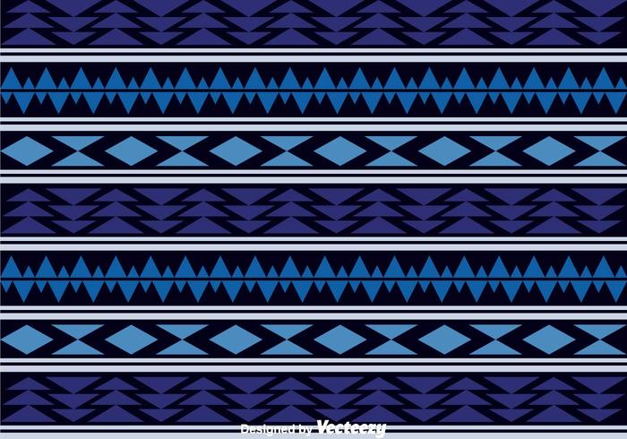 Dark Blue Aztec Pattern