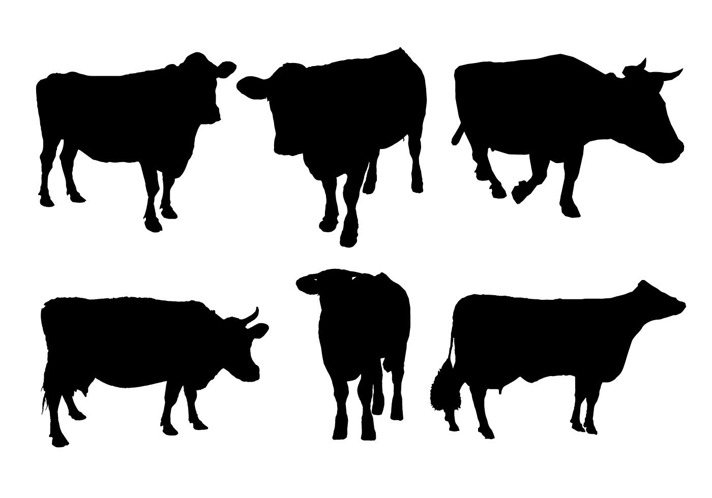 Cow Silhouette Vector - Download Free Vector Art, Stock ...