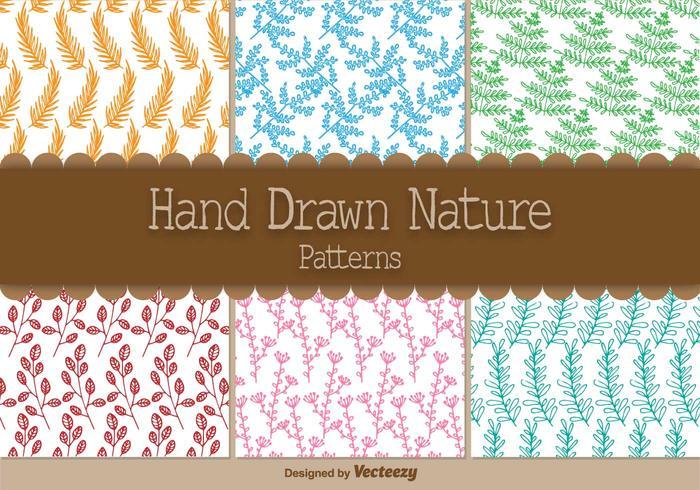 Patrones orgánicos dibujados a mano