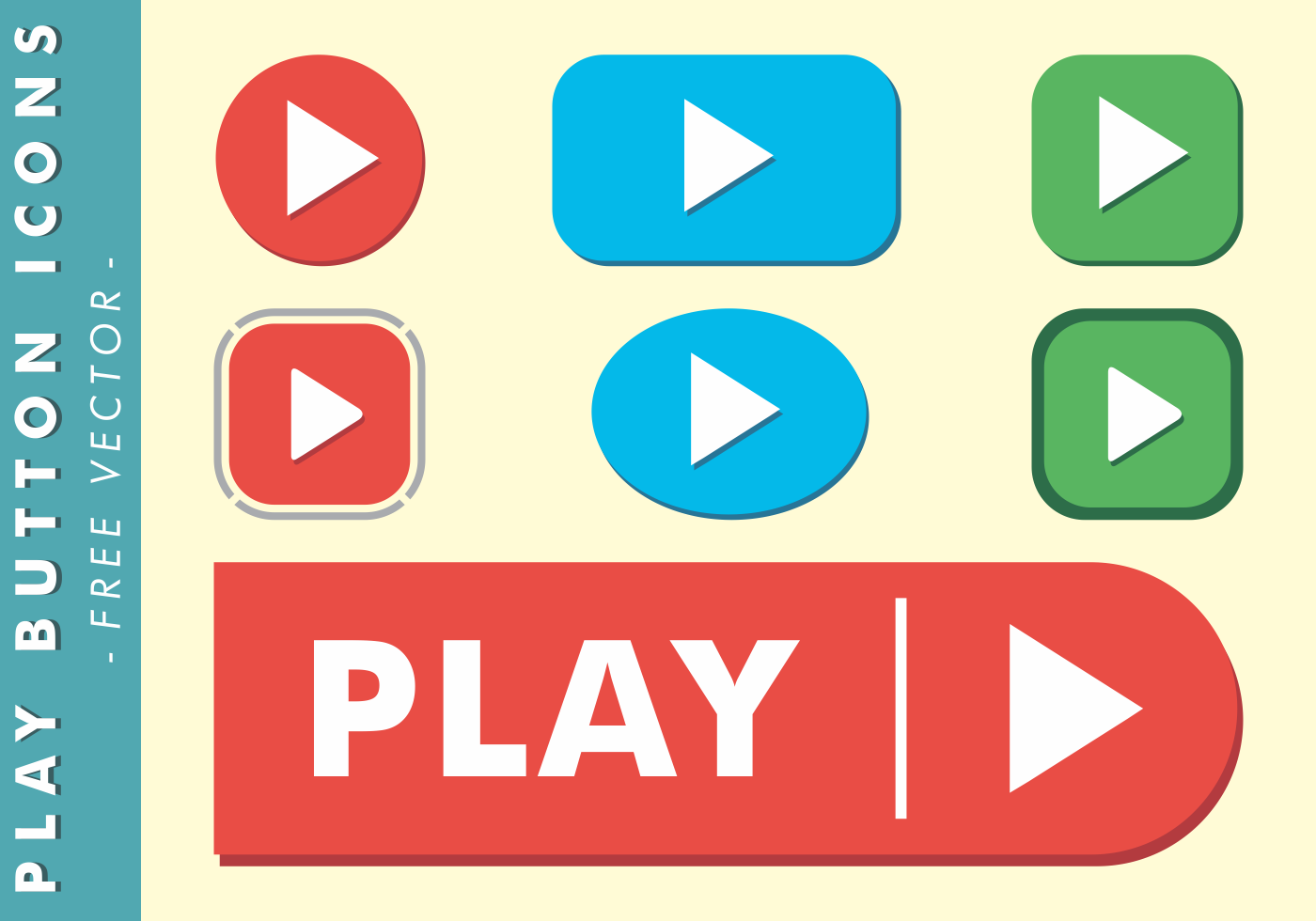 Play Button Icons Free Vector - Download Free Vectors, Clipart Graphics & Vector Art