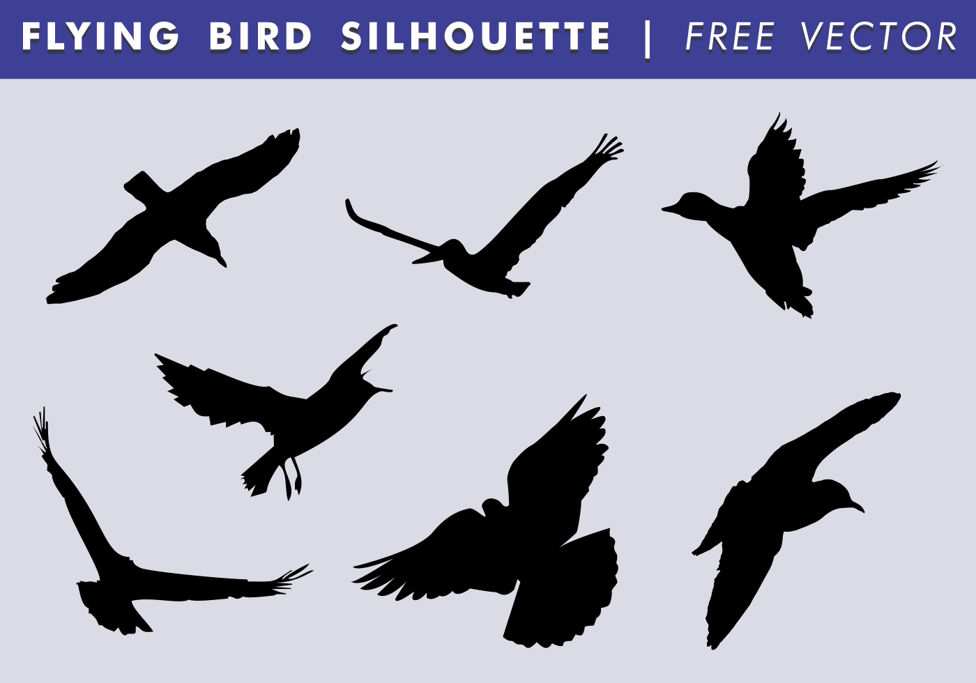 Flying Bird Silhouette Free Vector - Download Free Vector ... | 1400 x 980 png 115kB
