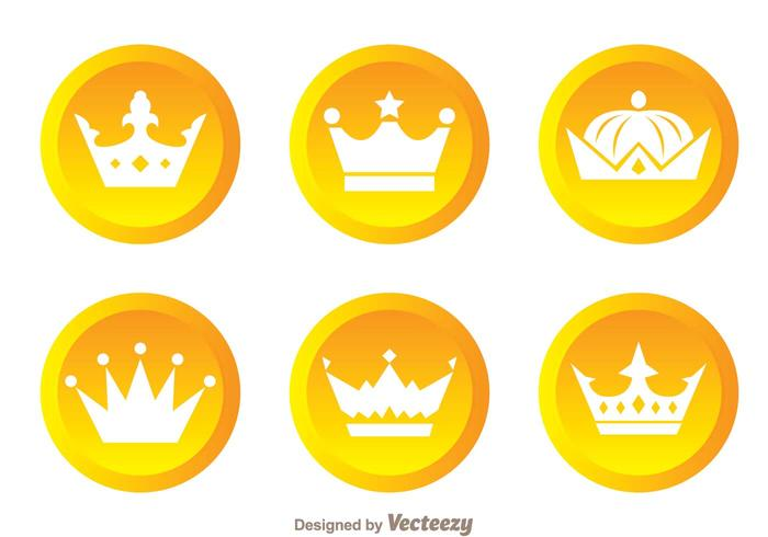 Crown Gold Circle Logos