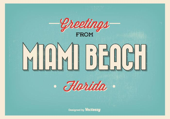 Miami Beach Grüße Illustration