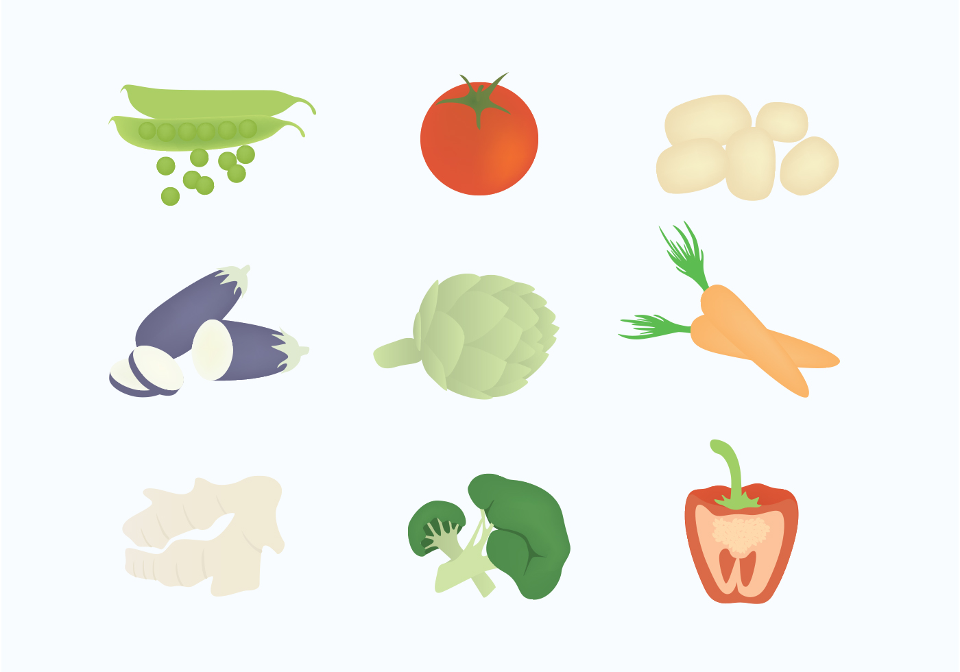 Vector Vegetables Illustration - Download Free Vector Art ...