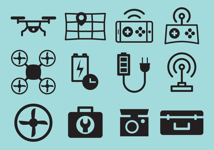 Drone Vector Icons