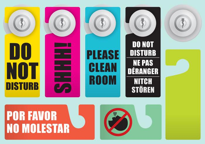 Do Not Disturb Door Signs