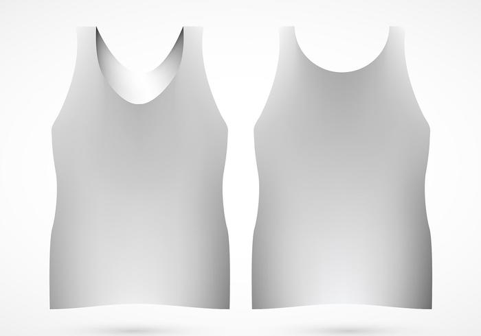 Tank Top Template Vector
