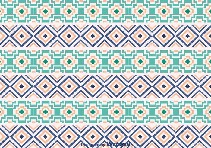 Teste padrão de ornamento asteca étnica