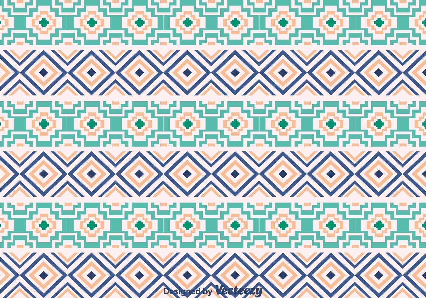Ethnic Aztec Ornament Pattern - Download Free Vector Art