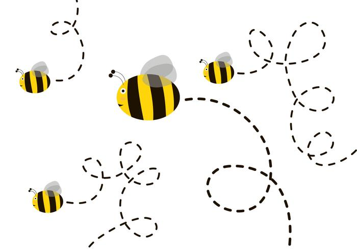 Free Cute Bee Vector