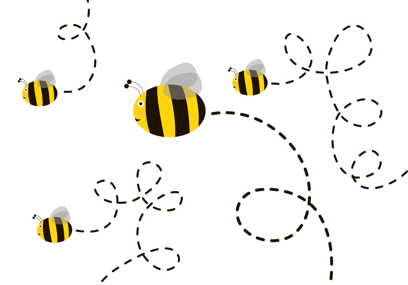 Black Bumble Bee >> Cute Bee Free Vector Art - (6347 Free Downloads)