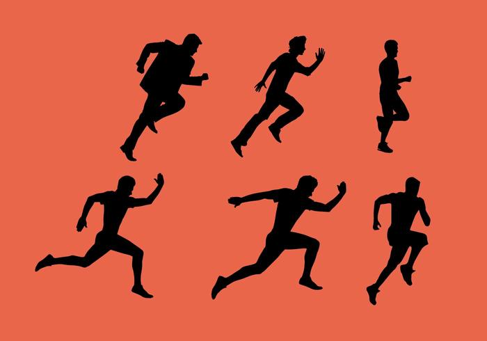 Man Running Vector Sequence