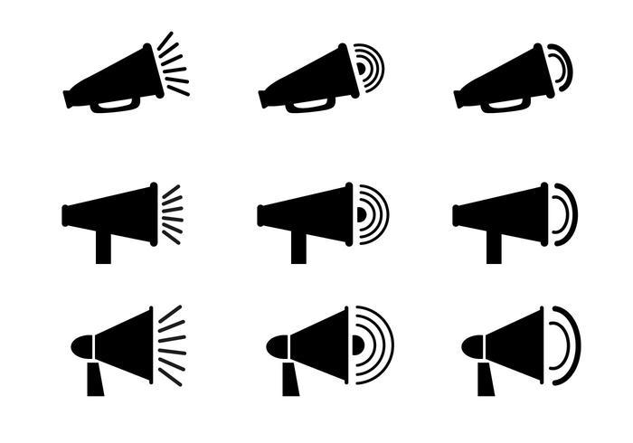 Megafono gratis icona vettoriale