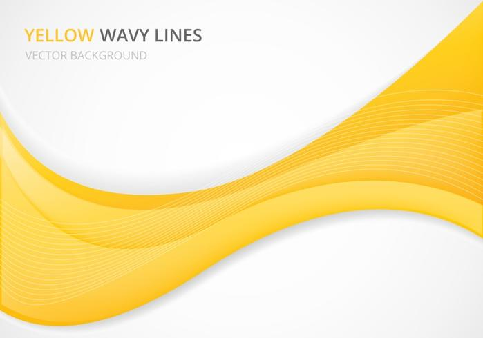 Free Yellow Wavy Vector Background