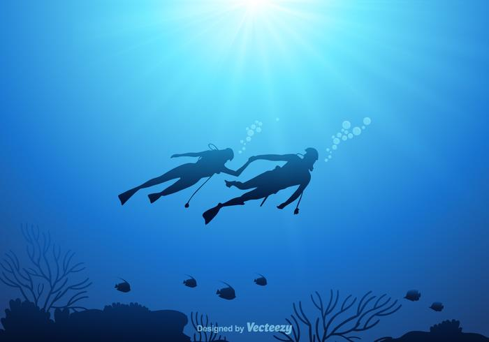 Free Underwater Vector Background