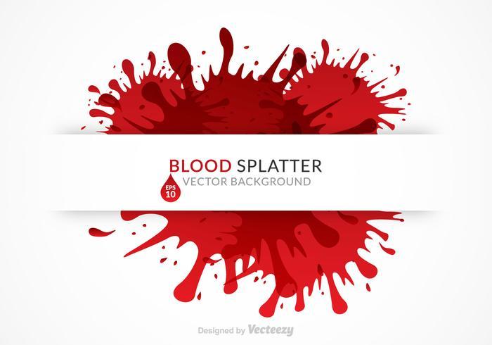 Free Blood Splatter Background Vector