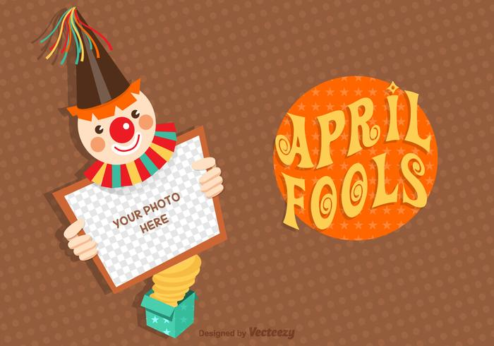 Free April Fools Vector Card