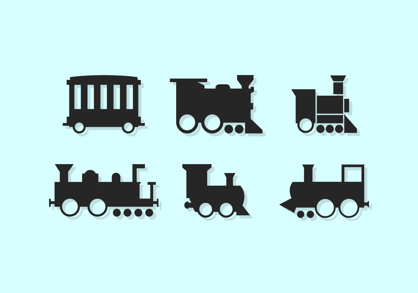 Silhouette steam engine trains silhouette free engine for Vector canape user manual