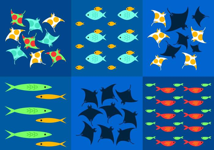 Underwater Background Vectors