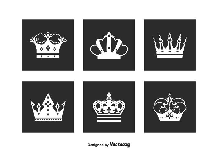 Free Crown Logo Vector Set