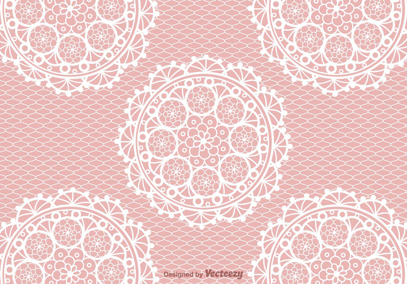 Free Crochet Lace Vector Background Download Free Vector