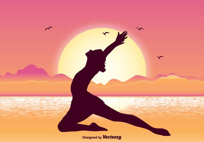 Gymnasts Silhouette Illustration