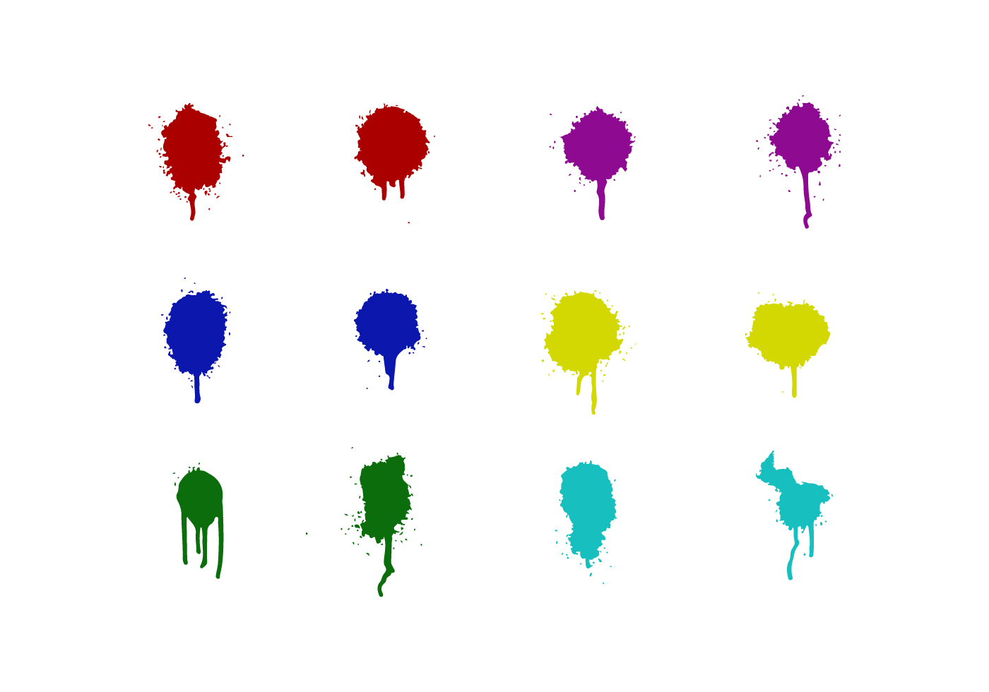 Colored Spraypaint Drips Download Free Vector Art Stock Graphics Images
