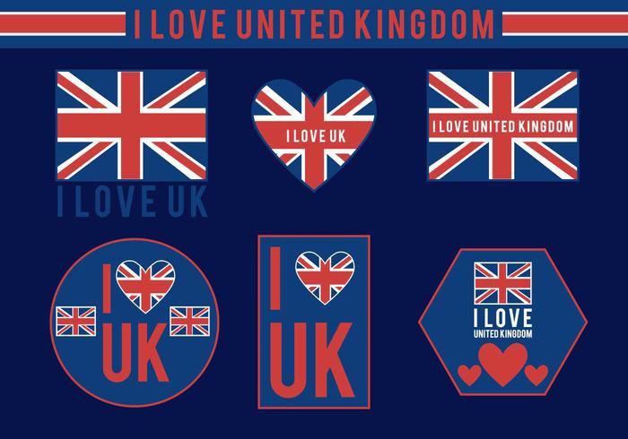 I Love UK Vectores