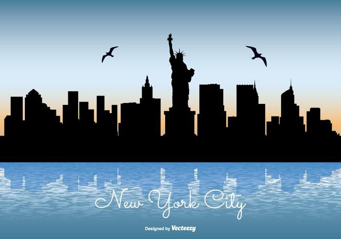 New York City Skyline Illustration