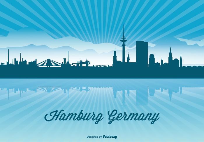 Hamburg Skyline Illustration