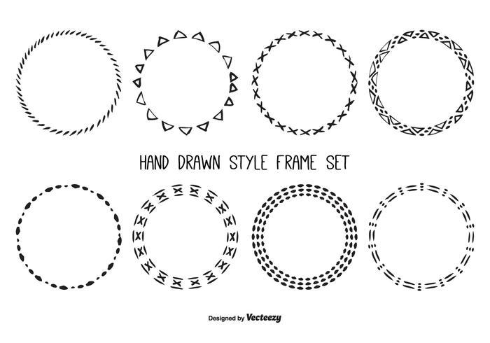 Cute Hand Drawn Frame Set